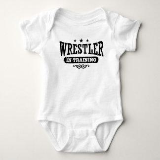Ringkämpfer im Training Baby Strampler