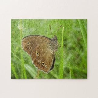 Ringlet-Schmetterlings-Foto-Puzzlespiel mit Puzzle