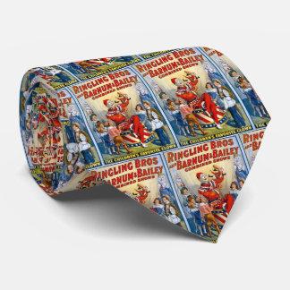 Ringling Brüder u. Barnum u. Vintager Clown Bedruckte Krawatte