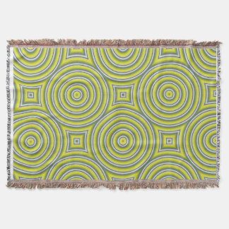 Rings and squares pattern, green decke