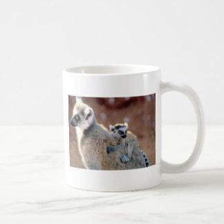 Ringtail-Lemur und Baby Kaffeetasse
