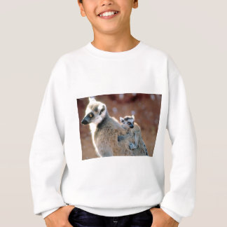 Ringtail-Lemur und Baby Sweatshirt