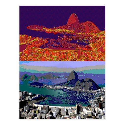 Rio de Janeiro Brasilien Pão-De-Açúcar Postkarte
