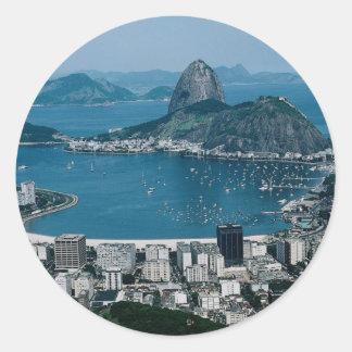 Rio de Janeiro, Brasilien Runder Aufkleber