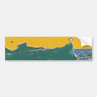 Rio De Janeiro Green and yellow Auto Sticker