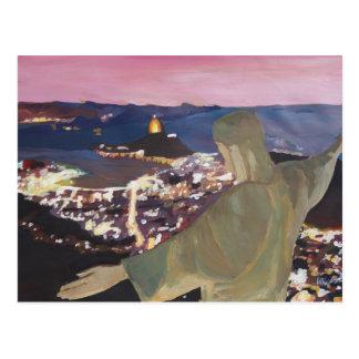 Rio de Janeiro mit Christus der Redeemer 2 Postkarte