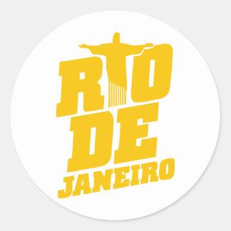 Rio de Janeiro Runder Aufkleber