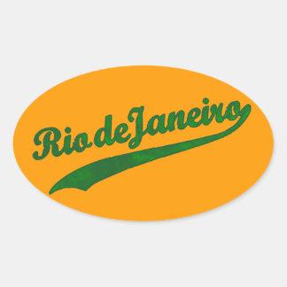 Rio- de Janeiroaufkleber Ovaler Aufkleber