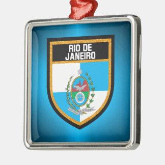 Rio- de Janeiroflagge Silbernes Ornament