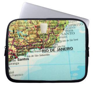 Rio- de Janeirokarte Laptopschutzhülle