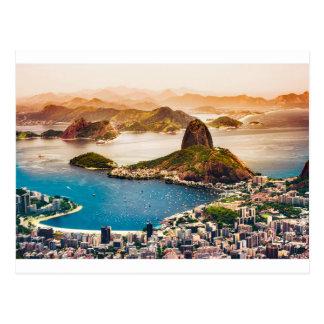 Rio- de JaneiroStadtbild-Ansicht Postkarte