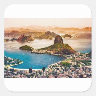 Rio- de JaneiroStadtbild-Ansicht Quadratischer Aufkleber