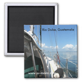 Rio Dulce, Guatemala, das Golfete kreuzend Quadratischer Magnet