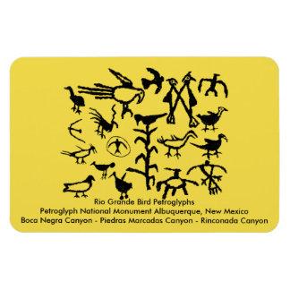 Rio Grande-Vogel-Petroglyphen Magnet