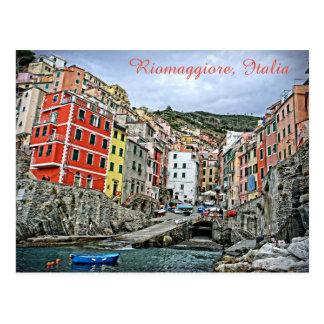 Riomaggiore, Italien - die Cinque Terre Postkarte