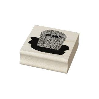 RIP Grabstein-hölzerne Kunst-Briefmarke Gummistempel