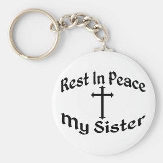 RIP meine Schwester Schlüsselanhänger