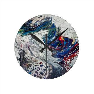"""Riss-"" abstrakte Kunst-Uhr Runde Wanduhr"