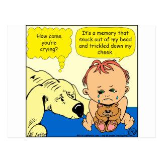 Riss-Cartoon mit 891 Gedächtnissen Postkarte