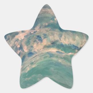 Riss-Welle Stern-Aufkleber