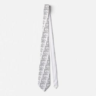 Risse des hängenden Baums Krawatte