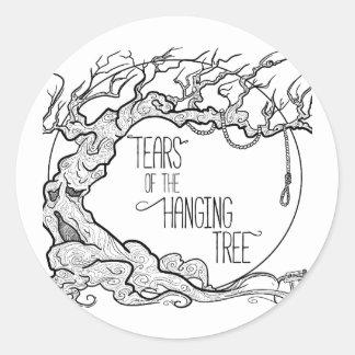 Risse des hängenden Baums Runder Aufkleber