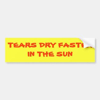 Risse trocknen schneller im Sun Autoaufkleber