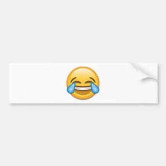 Risse von Freude emoji lustig Autoaufkleber