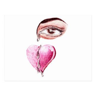 Risse zum Heart_ Postkarte