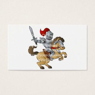 Ritter auf Pferd Visitenkarte