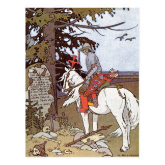 Ritter auf weißem Pferd Postkarte