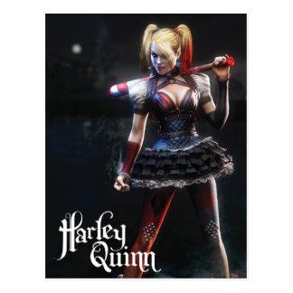 Ritter Batmans Arkham | Harley Quinn mit Schläger Postkarte