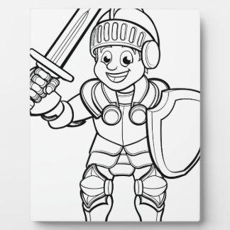 Ritter-Cartoon-Charakter Fotoplatte