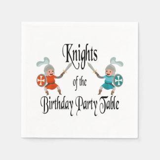 Ritter der Geburtstags-Party-Tabelle Papierservietten