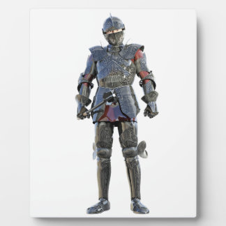 Ritter, der stehend und vorwärts geschaut worden fotoplatte