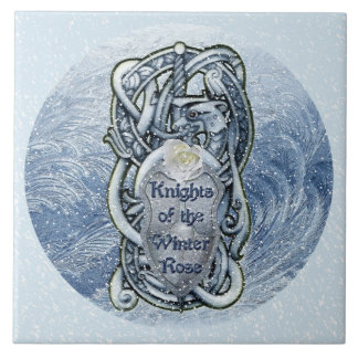 """""""Ritter der Winter-Rose"""" Keramik-Fliese Fliese"""