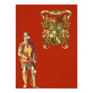 Ritter im Anzug der Rüstung 14 X 19,5 Cm Einladungskarte