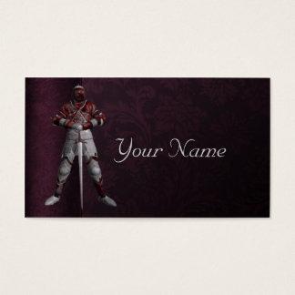 Ritter in der Rüstung Visitenkarte