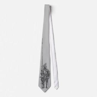 Ritter in der Rüstungs-Silber-Krawatte Krawatte