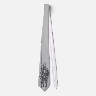 Ritter in der Rüstungs-Silber-Krawatte Personalisierte Krawatte