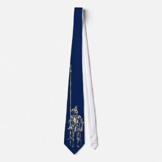 Ritter in der Rüstungs-Suche-Blau-Krawatte Krawatte