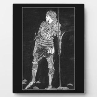 Ritter in glänzender Rüstung Fotoplatte