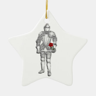 Ritter in glänzender Rüstung Keramik Ornament