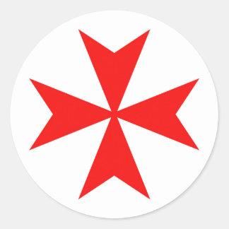 Ritter-Kreuz-Religionssymbol Maltas templar Runder Aufkleber