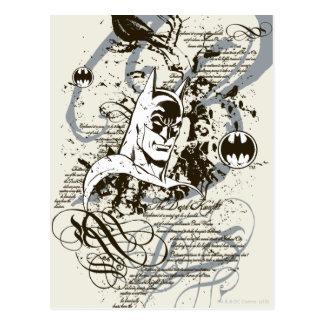 Ritter-Manuskript-Montage Batmans dunkle Postkarten