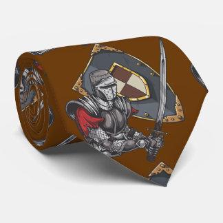 Ritter mit Klinge und Schild Individuelle Krawatten