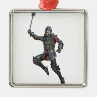 Ritter mit Muskatblüte springend rechts Silbernes Ornament