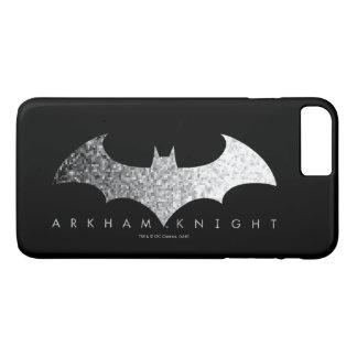 Ritter-Pixel-Logo Batmans Arkham iPhone 8 Plus/7 Plus Hülle