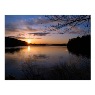 Ritter-Teich-Sonnenuntergang-Postkarte - 1 Postkarte
