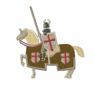Ritter Templar mittelalterlich Besticktes Poloshirt